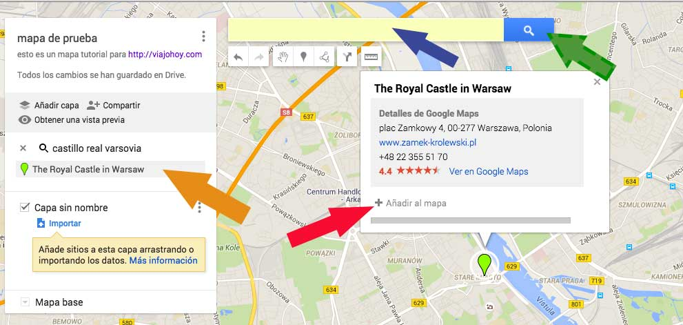 google-mymaps-viajohoy5 No volverás a perder ningún punto turístico gracias a Google My Maps