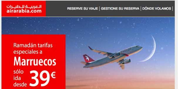 oferta-air-arabia Ofertas de vuelos primera entrega de Junio