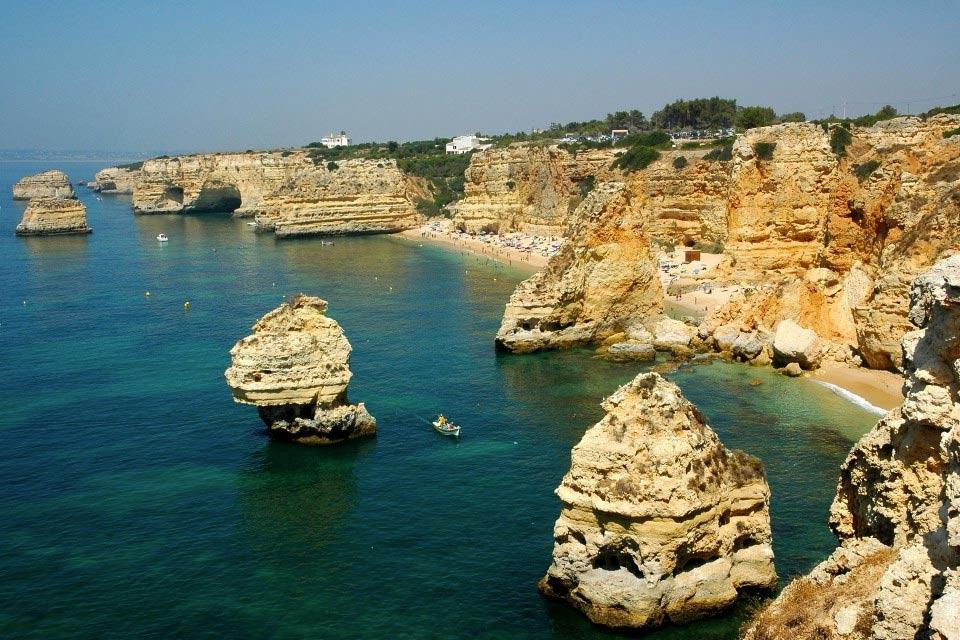 Playa-de-Marinha-visita-portugal3 Playa de Marinha Arquitectura Natural Visita Portugal