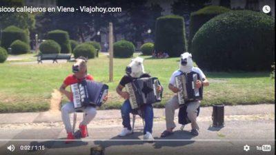 Músicos de calle en Viena