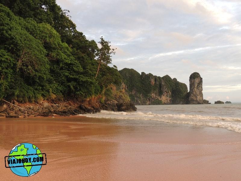 Vista de la playa de Ao Nang - Krabi